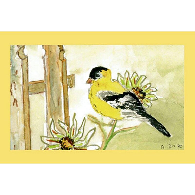 Garden Goldfinch Doormat