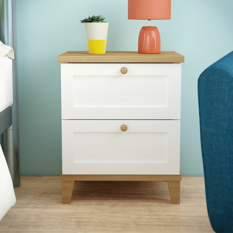 Riley Ave Alissa 2 Drawer Bedside Table Amp Reviews