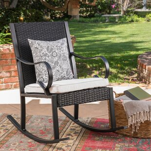 Ordinaire Kampmann Outdoor Wicker Rocking Chair With Cushions