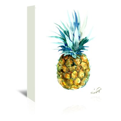 Bay Isle Home 'Pineapple' Print Format: Wrapped Canvas, Size: 48 H x 32 W x 1.5 D