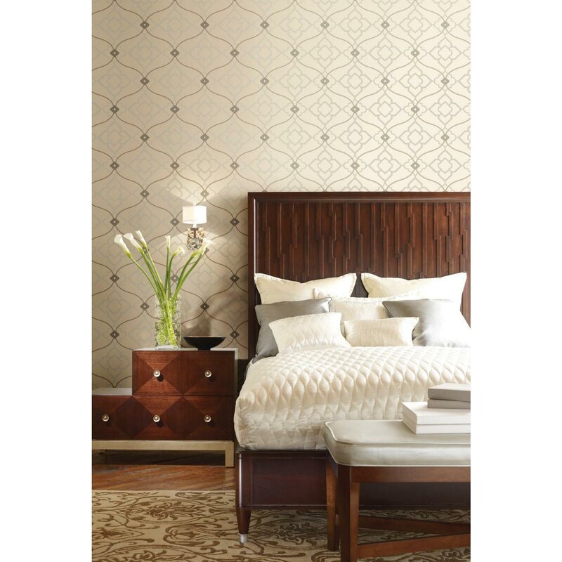 . Modern Nature Zuma 27  x 27  Trellis Wallpaper