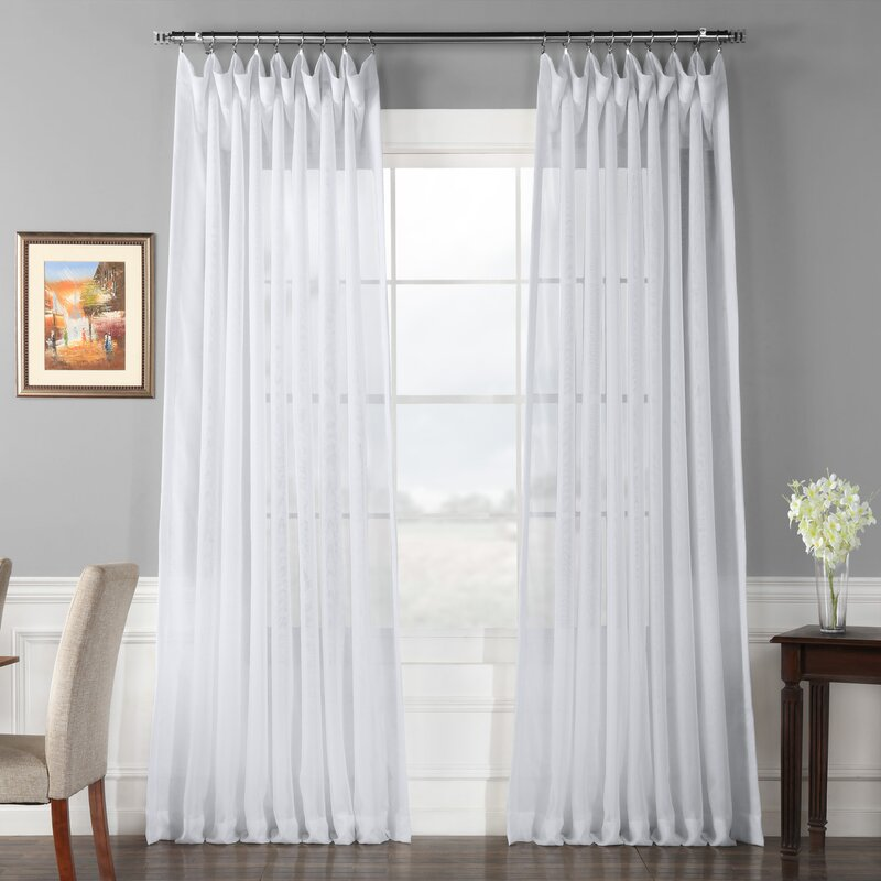 Apollo Solid Sheer Thermal Rod Pocket Single Curtain Panel