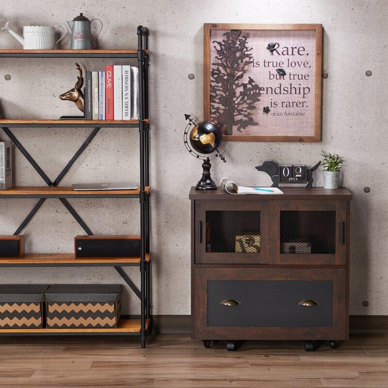 Zenya Industrial 1 Drawer Lateral Filing Cabinet Amp Reviews