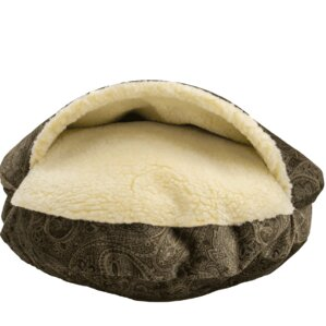 premium cozy cave hooded dog bed - Cozy Cave Dog Bed