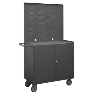 Wide Mobile 60 W Steel Top Workbench