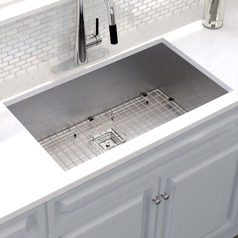 Undermount Kitchen Sink With Drainer Pax 31 x 18 undermount kitchen sink with drain assembly reviews pax 31 x 18 undermount kitchen sink with drain assembly workwithnaturefo