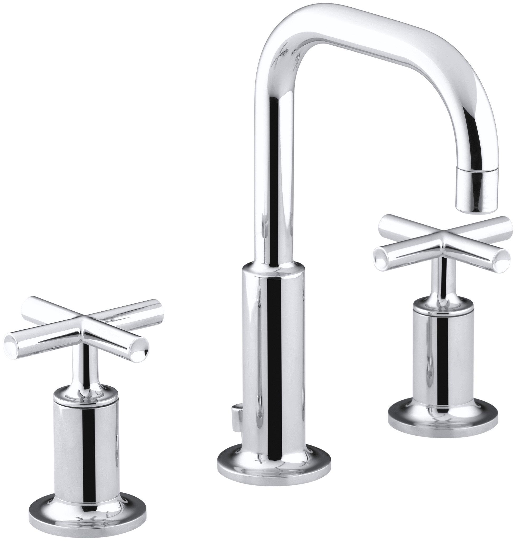 Kohler Purist Widespread Bathroom Sink Faucet with Low Cross ...