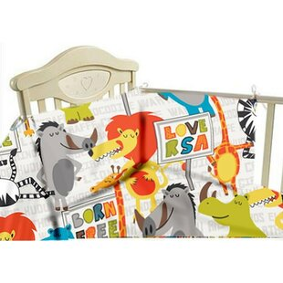 Born Free 3 Piece Cot Bedding Set by HoneyBee Nursery