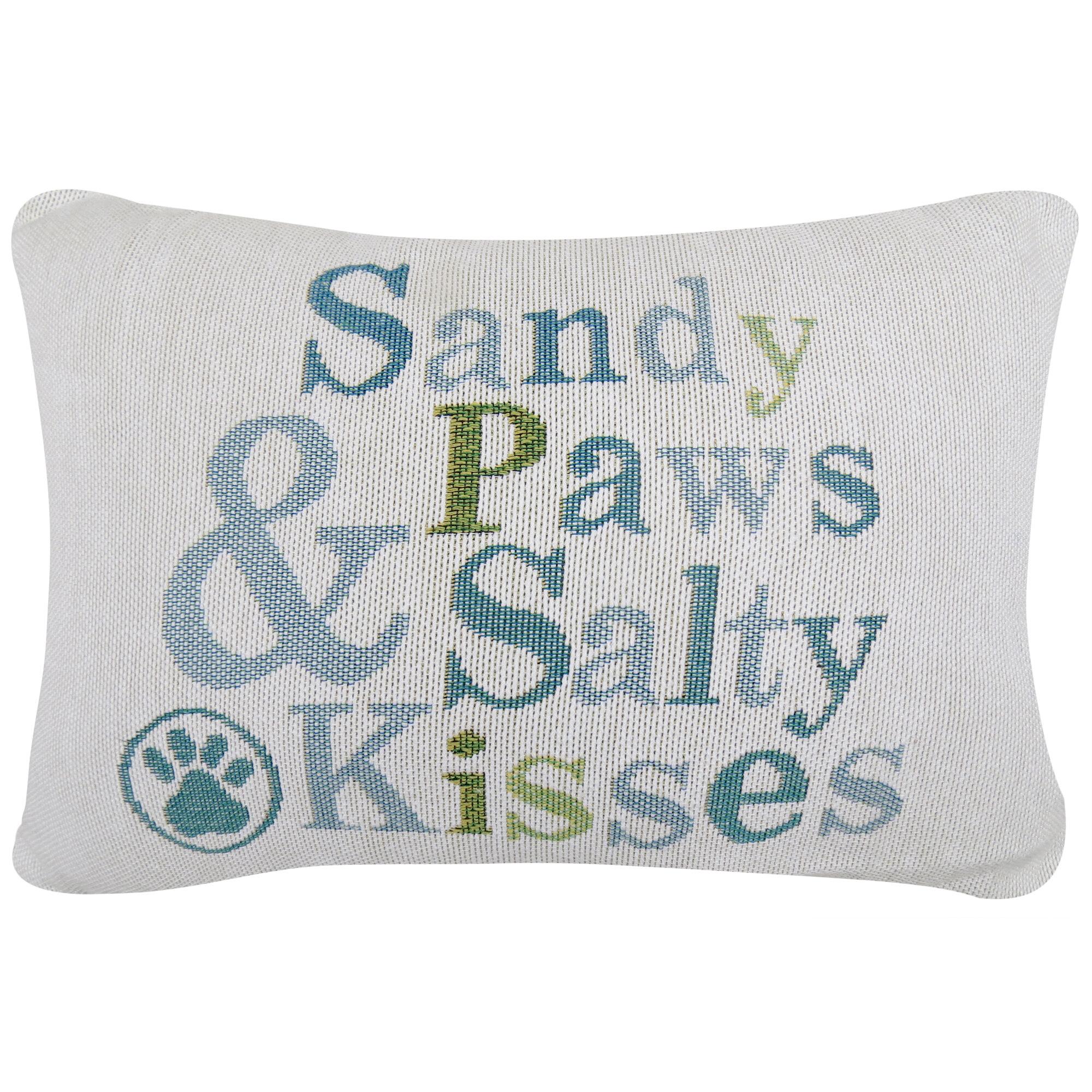 Park B Smith Ltd Sandy Paws And Salty Kisses Tapestry Decorative Lumbar  Pillow U0026 Reviews | Wayfair