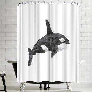 Jetty Printables Orca Whale Shower Curtain