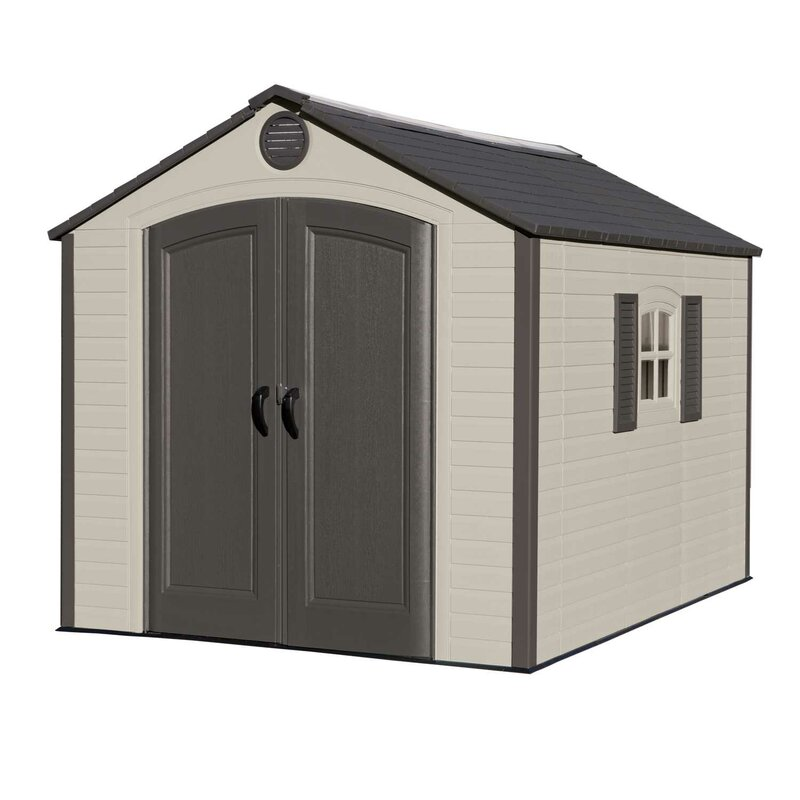 Garden Sheds 7 X 9 lifetime 7 ft. 8 in. w x 9 ft. 8 in. d plastic storage shed
