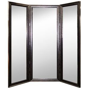 Amazing Vintage Silver Three 3 Panel Mirror Room Divider