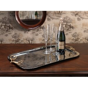 Imani 24-inch Long Rectangular Serving Tray with Handles