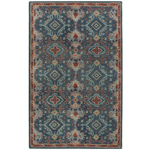 Albrightsville Hand Woven Wool Blue Area Rug