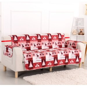 Pegasus Home Fashions Christmas Lodge Box Cushion Sofa Slipcover
