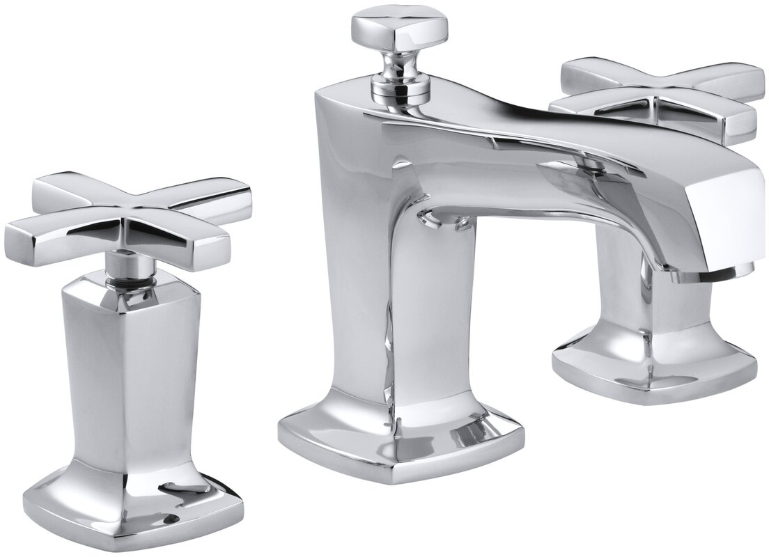 Kohler Margaux Widespread Bathroom Sink Faucet with Cross Handles ...