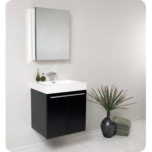 Senza 23″ Single u00a0Alto Modern Bathroom Vanity Set with Mirror