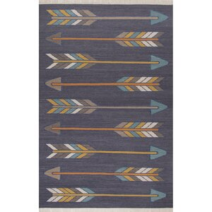 Allegra Dark Gray/Yellow Area Rug
