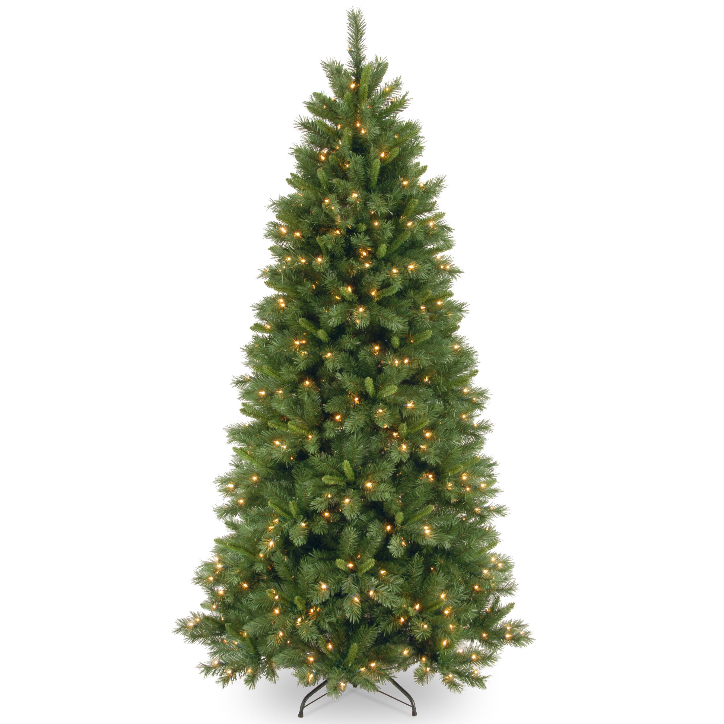 National Tree Co. Lehigh Valley Pine 7.5\' Green Slim Hinged ...