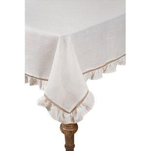 Hemstitch/Ruffle Trim Tablecloth