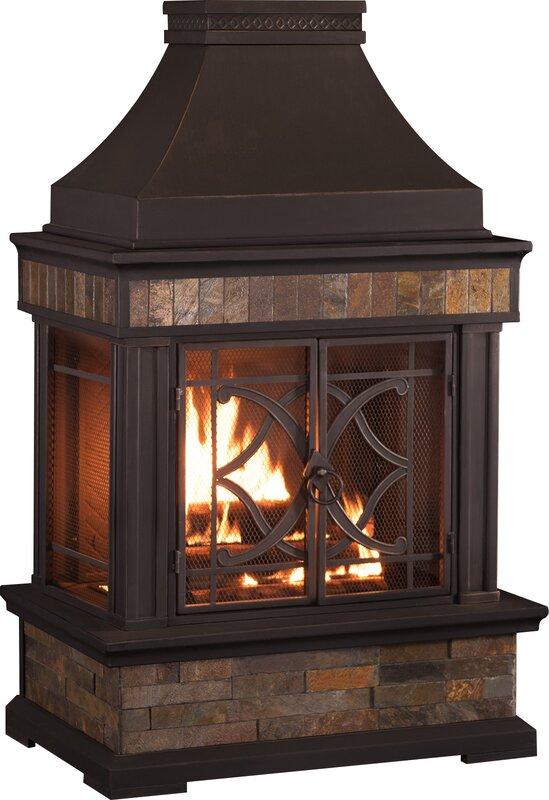 Delightful Heirloom Steel Wood Burning Outdoor Fireplace