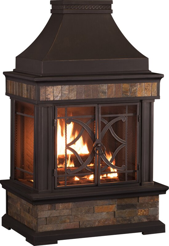 Sunjoy Heirloom Steel Wood Burning Pagoda Amp Reviews Wayfair