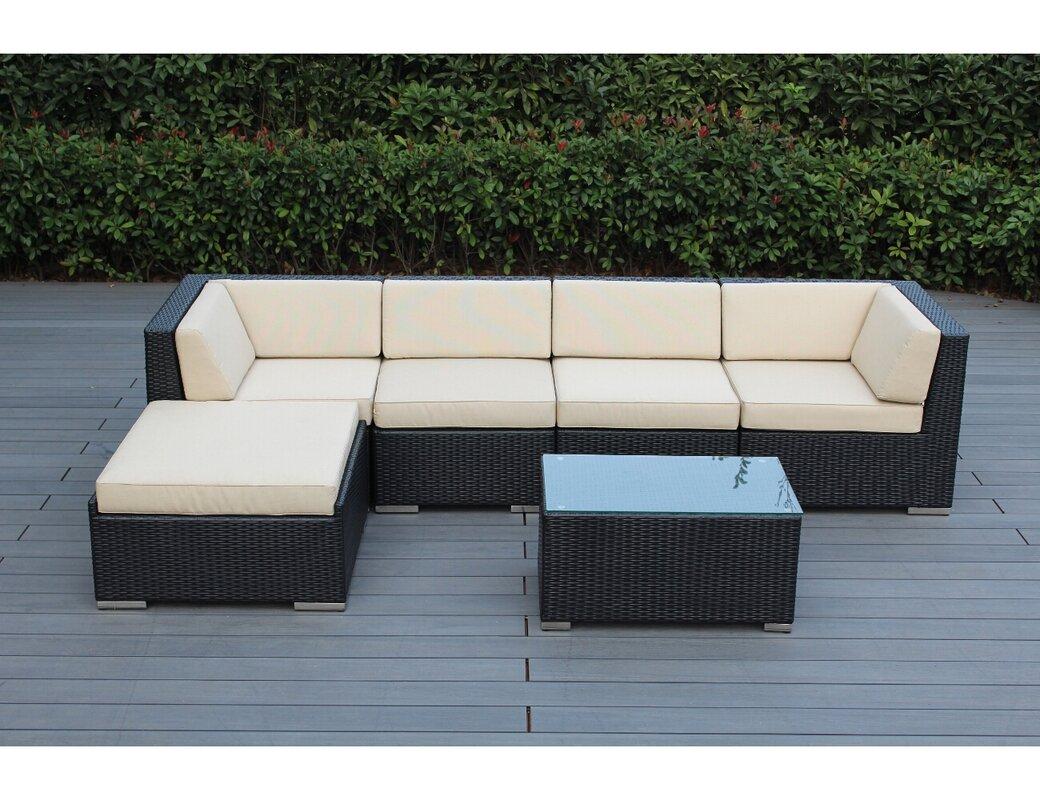 Ohana 6 Piece Sunbrella Sectional Set With Cushions