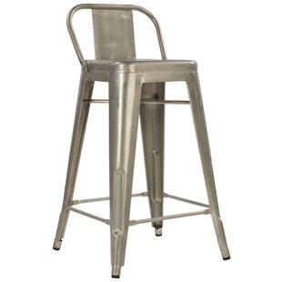 Crosland 26 Metal-Galvanized Bar Stool (Set of 2)