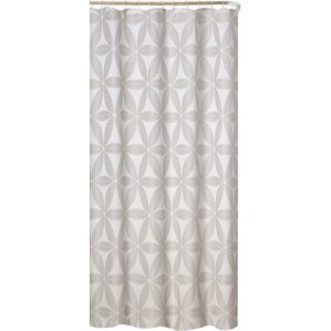 white and silver shower curtain. Iris Fabric Shower Curtain Modern Gray  Silver Curtains AllModern