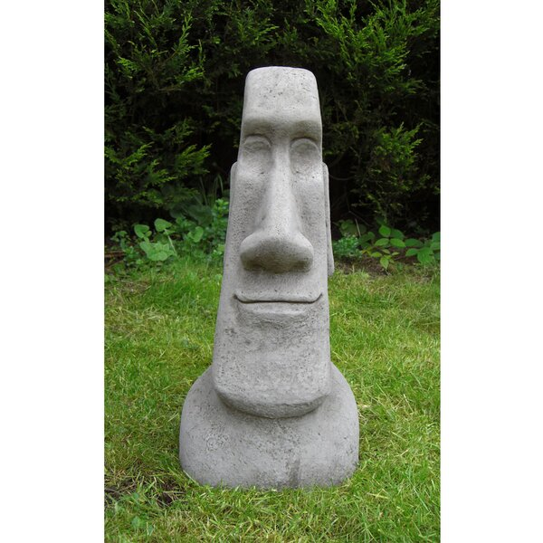 Merveilleux Garden Ornaments By Onefold Easter Island Moai Single Head Stone Garden  Statue | Wayfair.co.uk