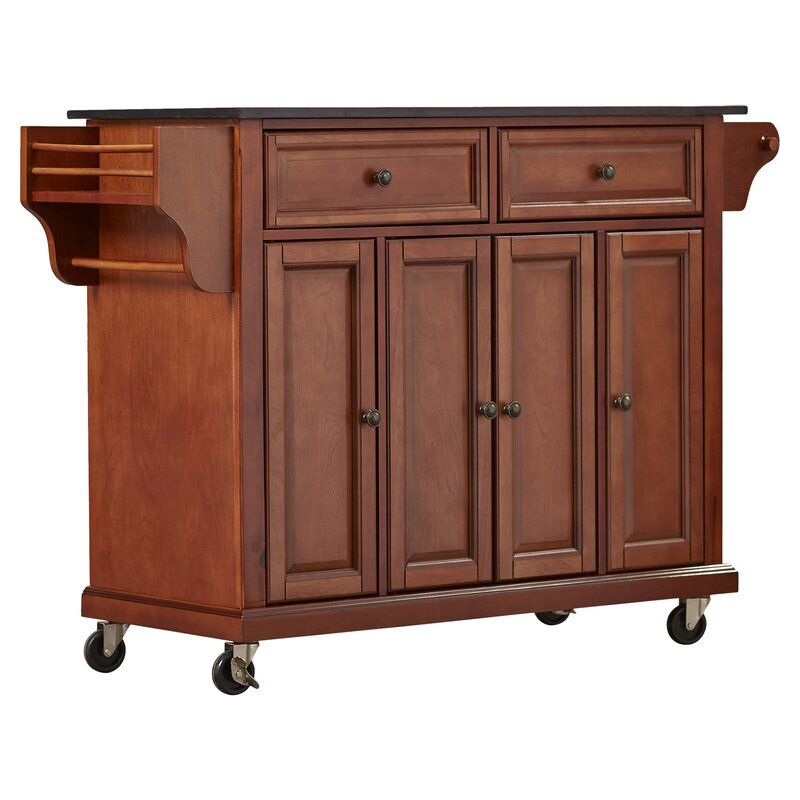 Pottstown Kitchen Island With Granite Top By Darby Home Co
