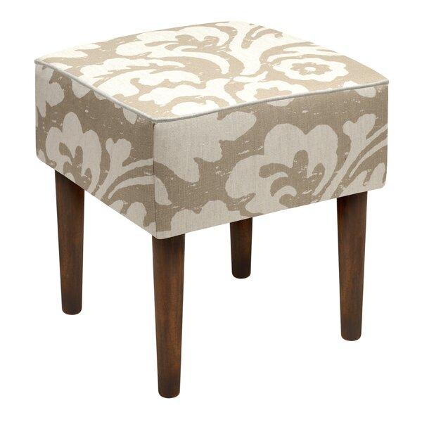 Jacobean Floral Upholstered Vanity Stool Reviews Birch Lane
