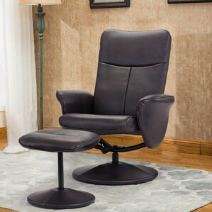 Warrington Contemporary Living Room Swivel Armchair And Ottoman