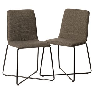 Linen Upholstered Parsons Chair (Set of 2) b..