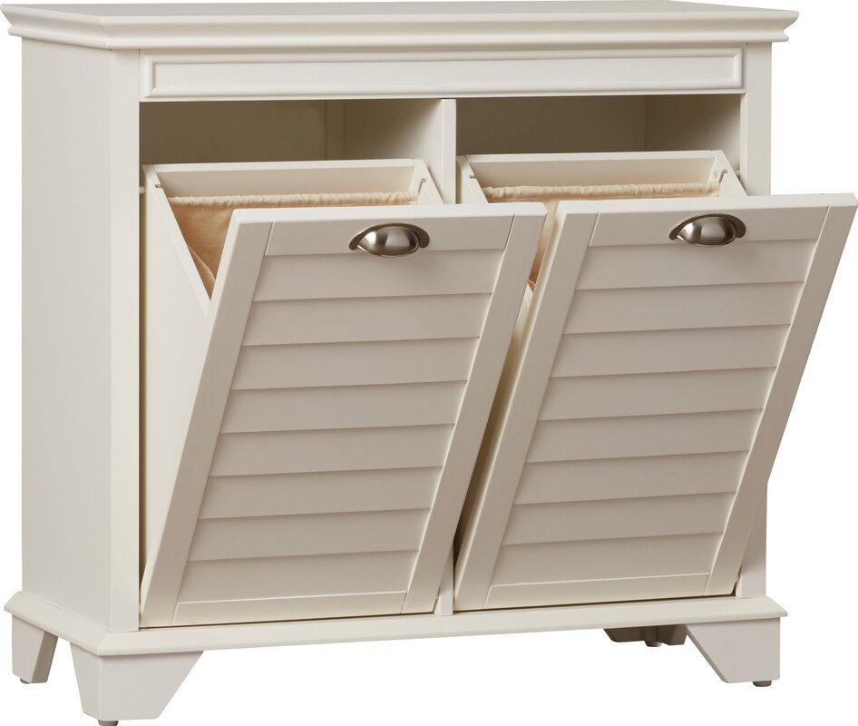 Beachcrest home martel cabinet laundry hamper reviews wayfair - Linen cabinet with laundry hamper ...
