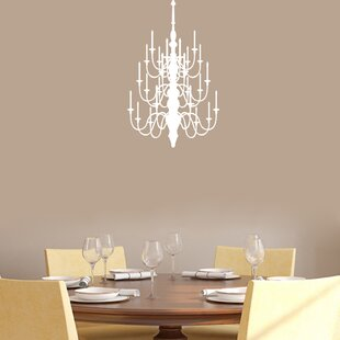 Chandelier wall decal wayfair save to idea board mozeypictures Gallery