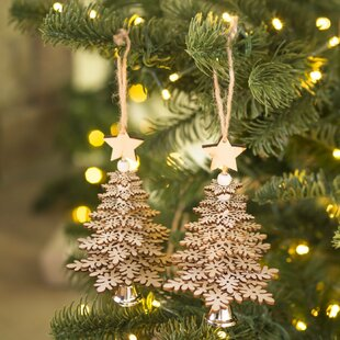 christmas tree shaped ornament set set of 2