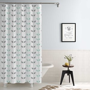 Cleve Waterproof Printed 14 Piece Shower Curtain Set