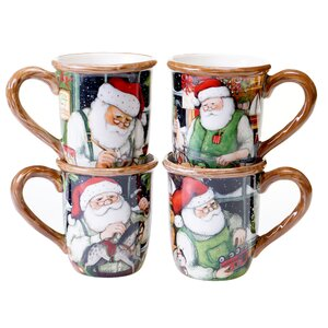 Santa's Workshop 16 oz. Mug (Set of 4)