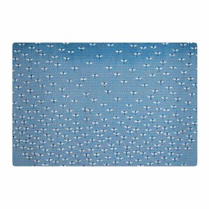 Laura Nicholson Being Here Blue/White Area Rug