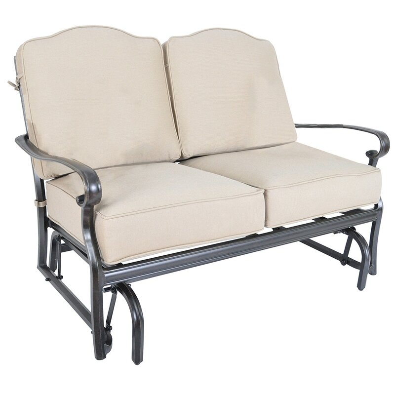 Fritsch Glider Loveseat With Sunbrella Cushions