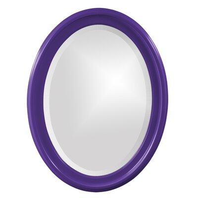 House of Hampton Houstonia Wall Mirror Finish: Royal Purple