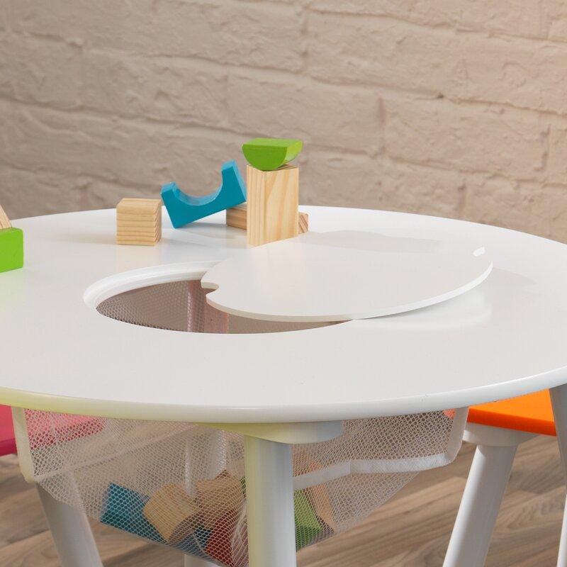 KidKraft Storage Kids' 5 Piece Table and Chair Set ...