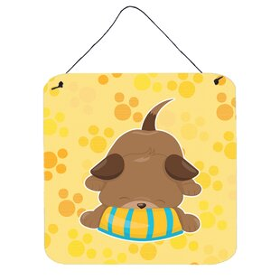 Nice Puppy Pawprints Yellow Wall Décor