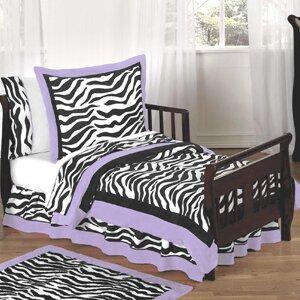 Zebra 5 Piece Toddler Bedding Set