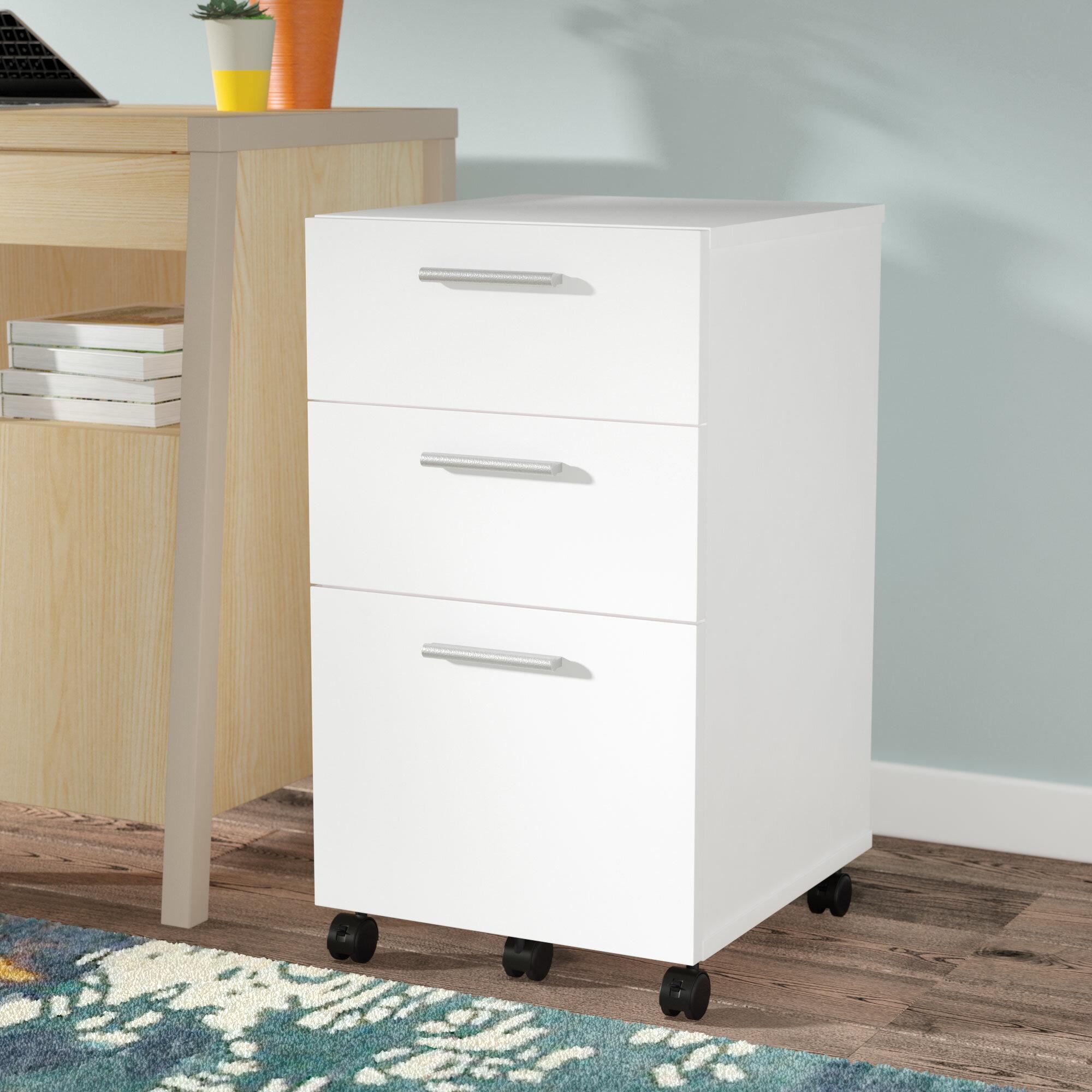 Latitude Run Magdalena 3 Drawer Mobile Filing Cabinet U0026 Reviews | Wayfair