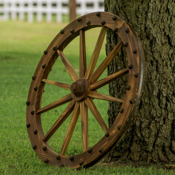 Leighcountry Charred Deluxe Wagon Wheel Wall D 233 Cor