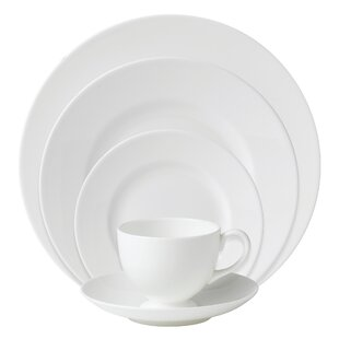 White Bone China 5 Piece Place Setting Service for 1  sc 1 st  Wayfair & White China Dinnerware | Wayfair