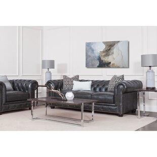 Tanisha Leather Configurable Living Room Set