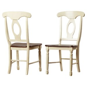 Shelburne Traditional Solid Wood Dining Chair (Set of 2) by Laurel Foundry Modern Farmhouse